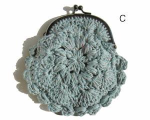 Precioso Monedero tejido en crochet