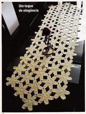 contigo el patrón de este tejido a crochet bonito camino de mesa