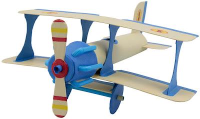 Como Hacer Avion de Juguete Casero.Facil y Rapido