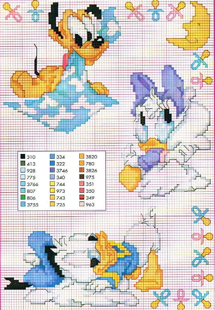 Disney graficos en punto de cruz