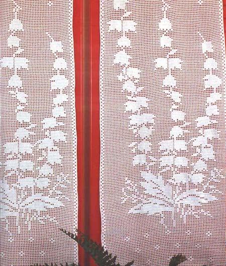 bonitas cortinas a ganchillo