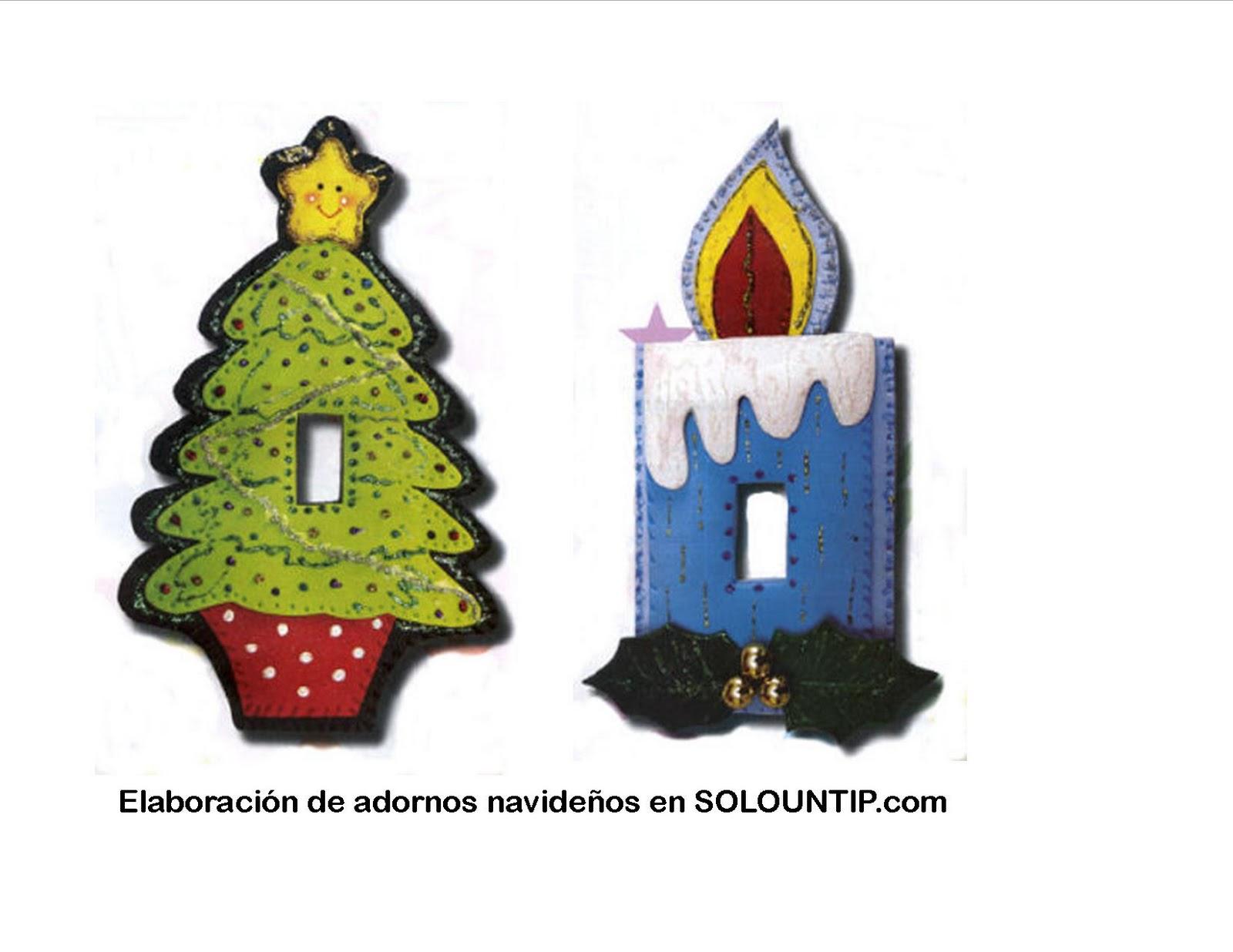 Divertidos adornos navideños en foami