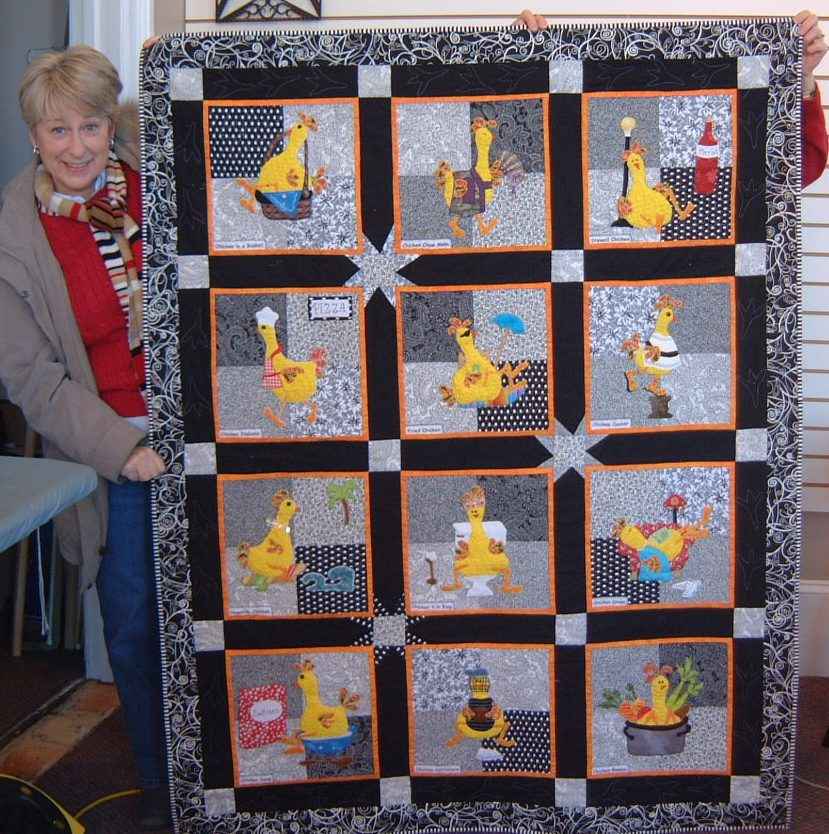 Quilters Loft Company Chicken Buffet Quilt Support Hospice Of Mesmerizing Chicken Quilt Pattern