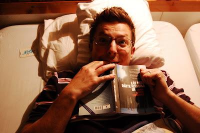 En spännande bok och en vettskrämd läsare