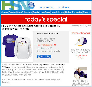 brett favre, vikings, email newspapers, international credit cards, matt vick leinart doll,  people of walmart, 09/09/09, hsn email