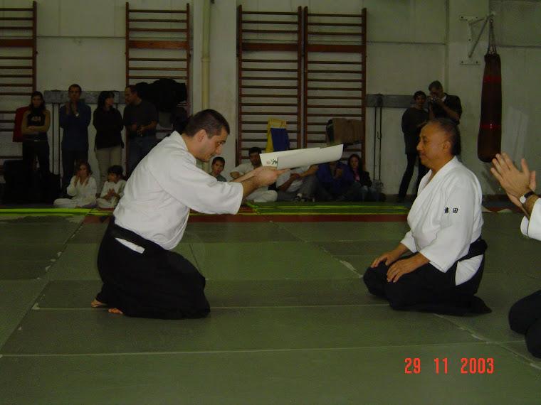 Diploma de nidan din partea Maestrului Fujita