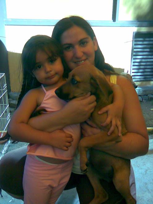 cachorra de 4 meses adoptada