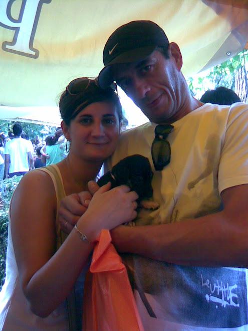 cachorrita adoptada