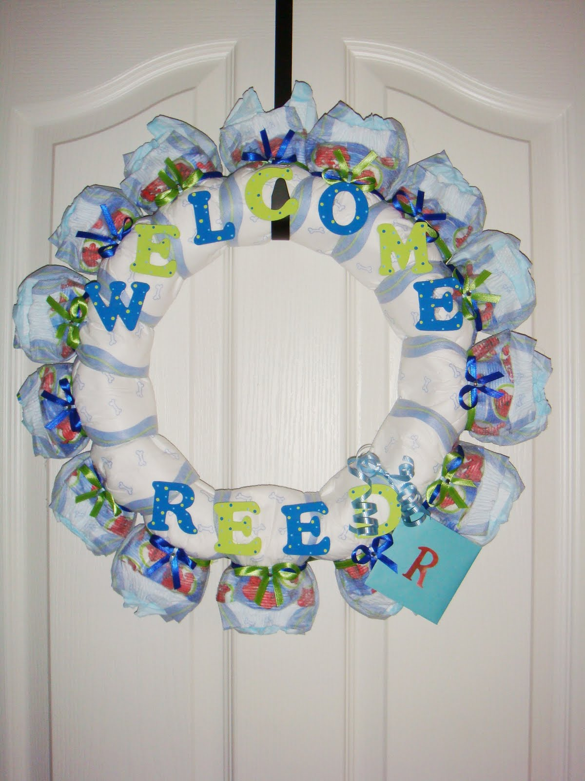 auntteague creations diaper wreaths