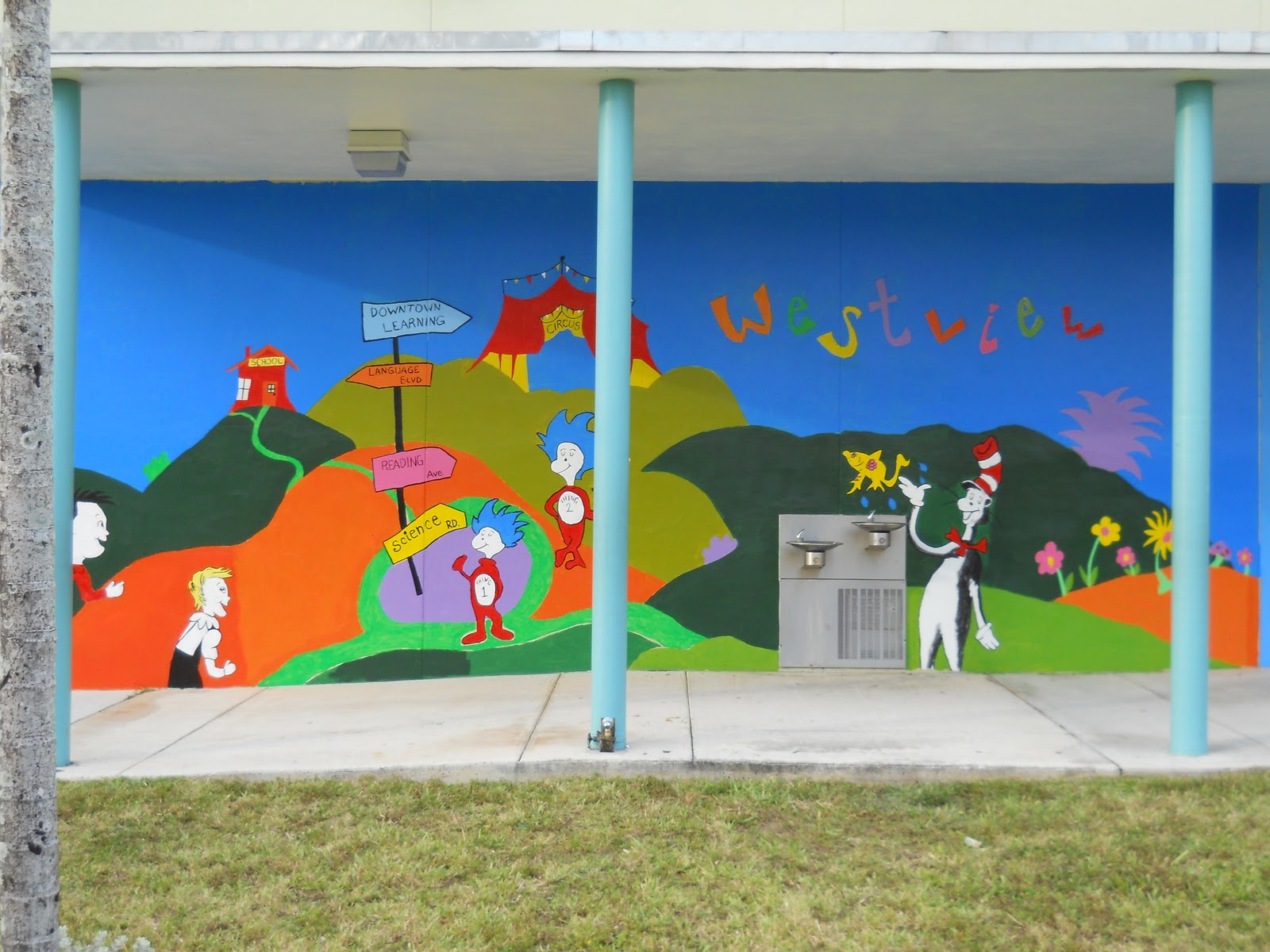 Dr Seuss Wall Mural thronefieldcom
