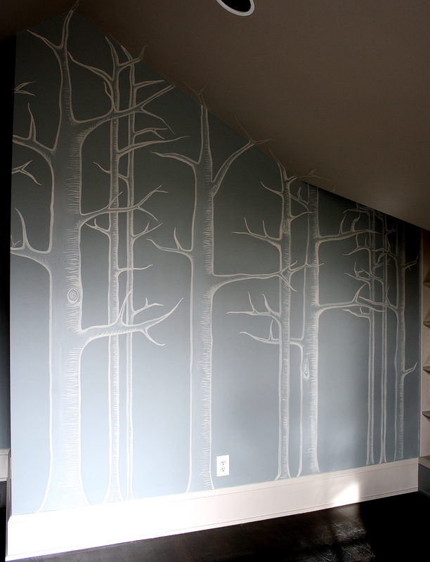 Hand painted trees house of jade interiors blog for Diy birch tree mural