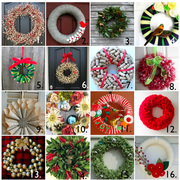 etsy wreath roundup - Christmas Wreaths Etsy