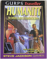 Cover of GURPs Traveller: Humaniti by Loren K. Wiseman and Jon F. Zeigler
