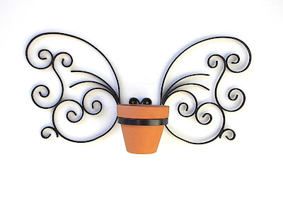 Home Of Metal Craft And Design My Butterfly Wall Plant Hanger