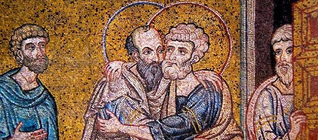 Saints Apôtres Pierre et Paul dans images sacrée 0629