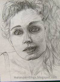 Portrait of a young girl-pencil sketch 2