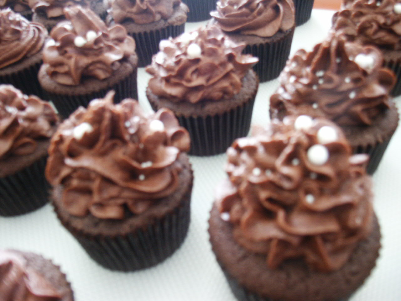 ... : Cocoa-Buttermilk Cupcakes with Chocolate Malt Buttercream Frosting