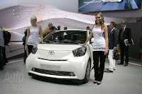 Toyota iQ in sexy company at Paris Motorshow