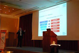 Me presenting Toyota case @ Web Analytics Congres 2009