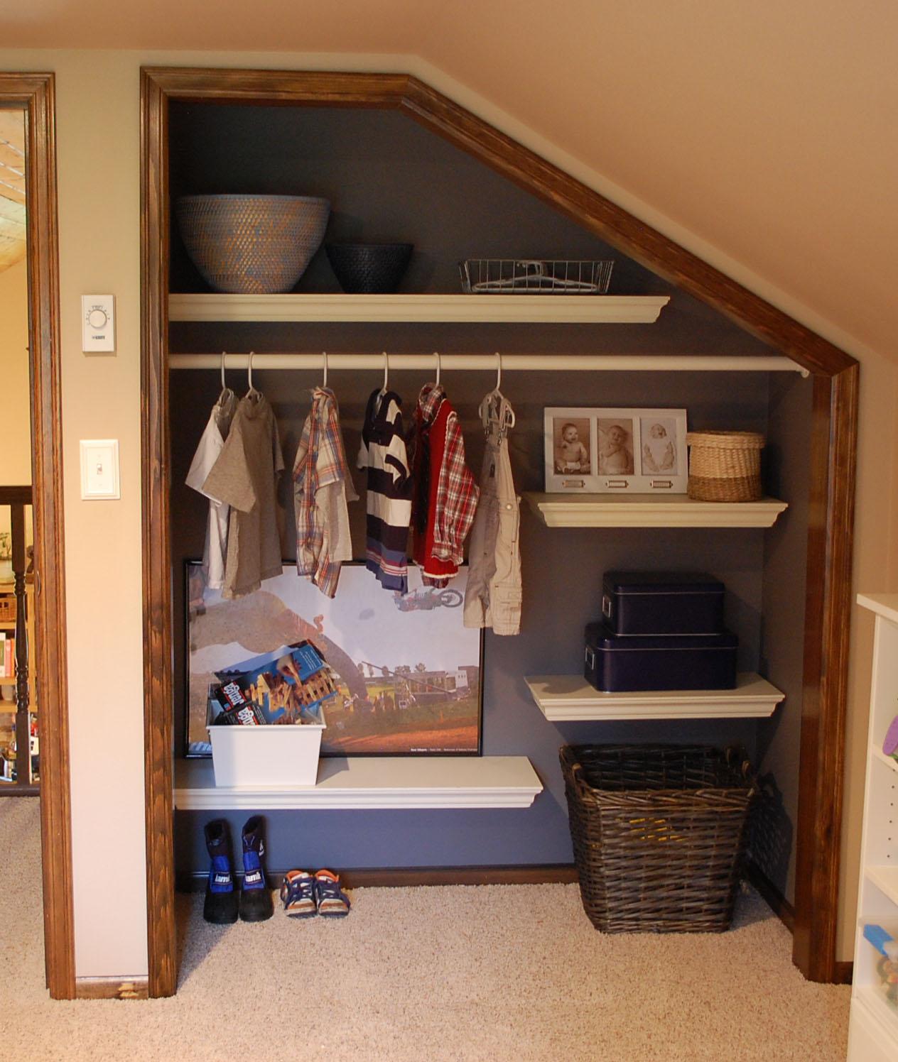 will work for decor: Progress - Big Boy Closet