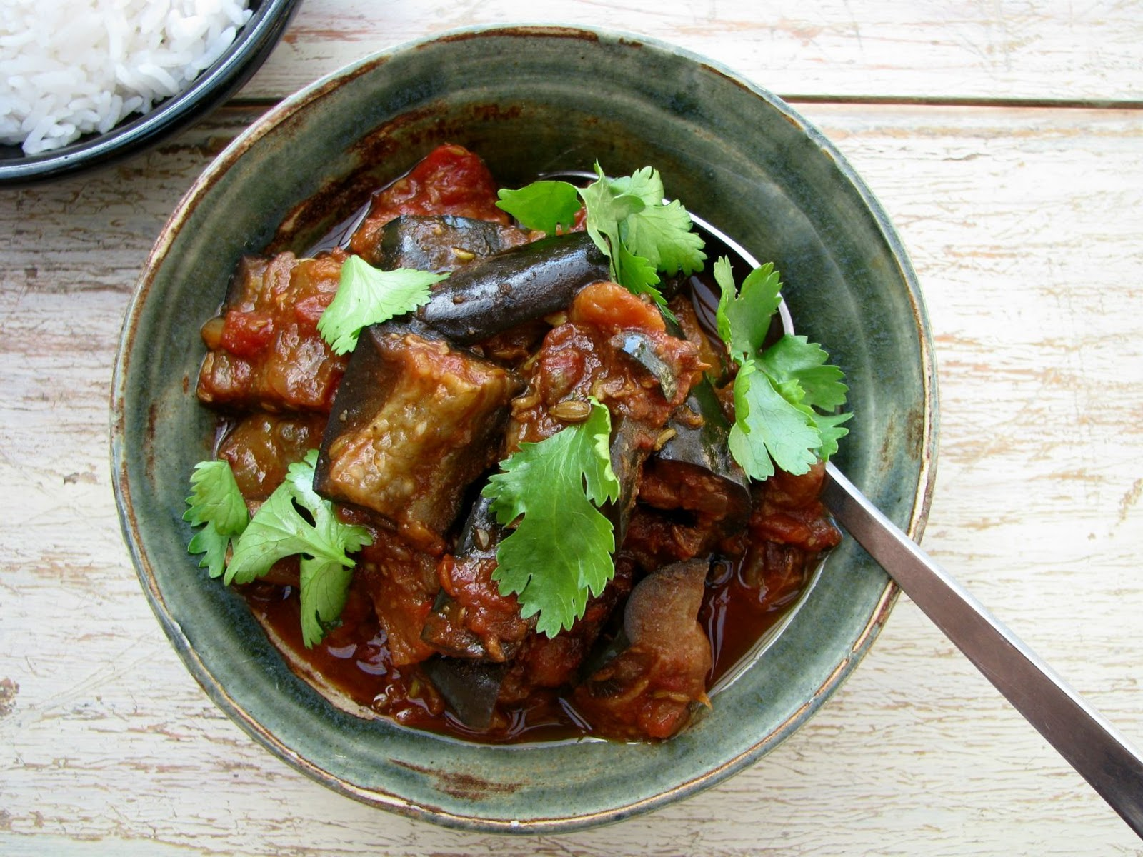 Curried Eggplant Recipe — Dishmaps