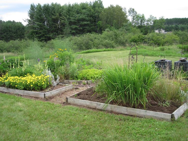 NEW GARDENS AT THE FARM: Back Veranda Garden