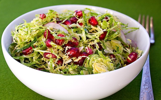 Jenibee Recipes: Brussels Sprout Salad with Pomegranate Seeds