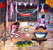 Картина индейца