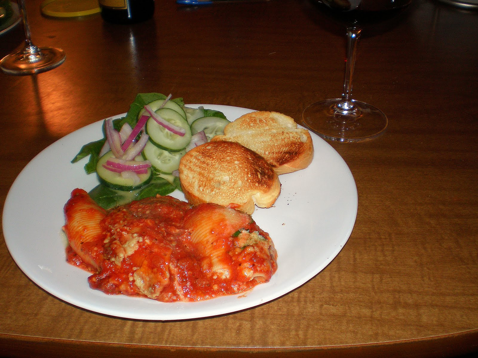Basil Development: Three Cheese-Stuffed Shells with Meaty ...