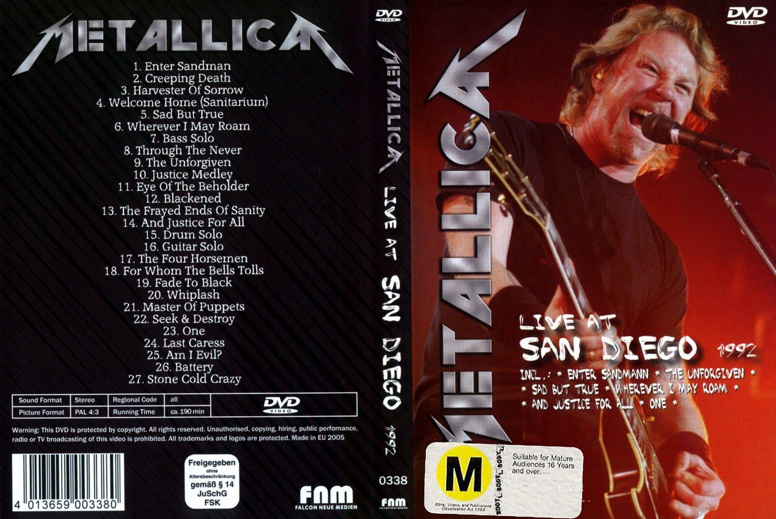 BOOTSLIVE: Metallica - Live at San Diego 1992 (DVD-Rip)