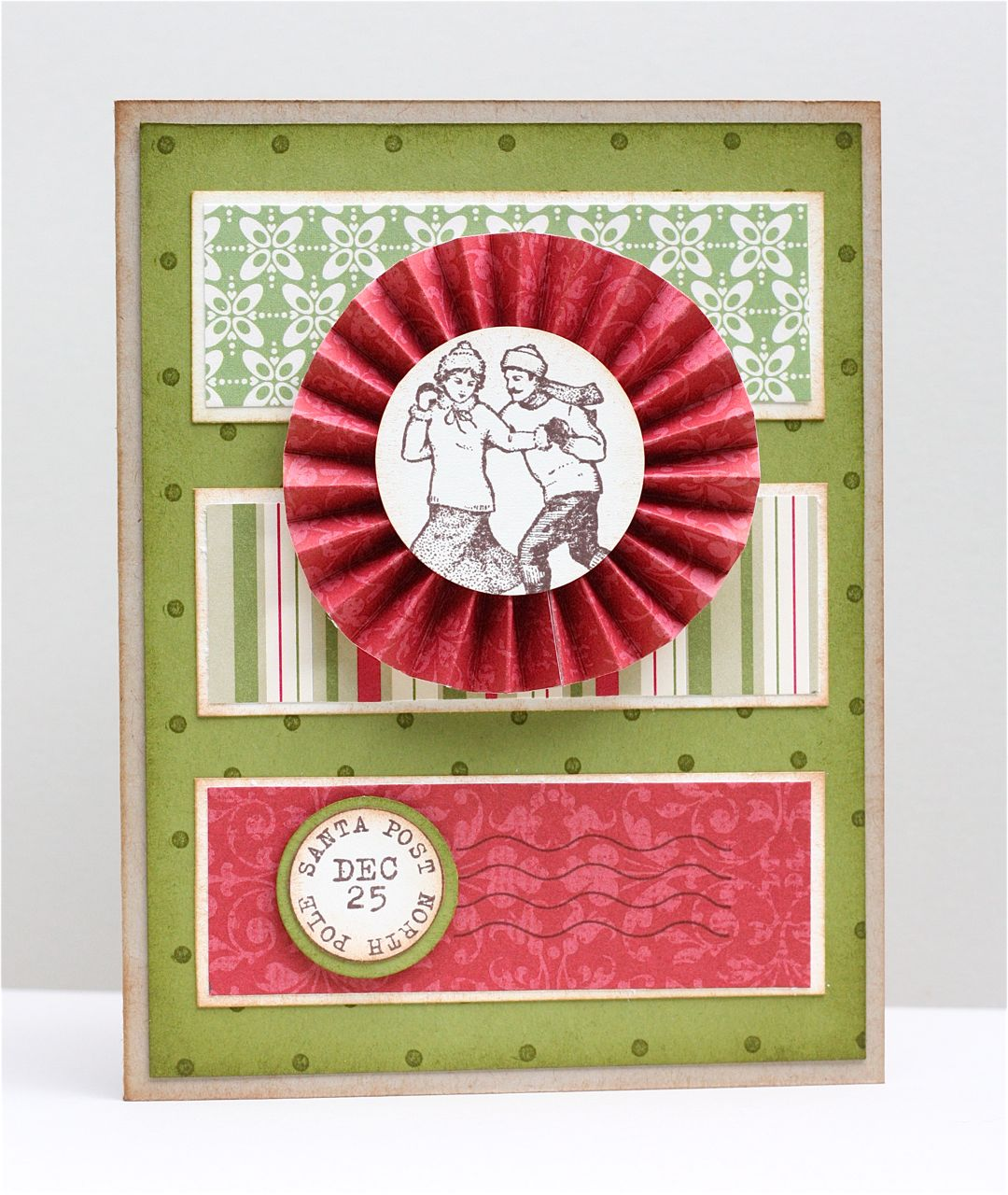 The apple crate accordion flower christmas card accordion flower christmas card have you noticed all of the do it yourself flower embellishments that are popping up in the paper crafting world solutioingenieria Choice Image