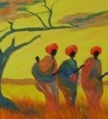 Pintura de um Angolano