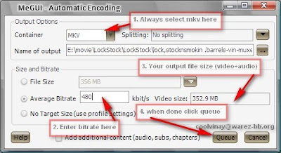 How To Encoding, Editing of x264 Mkv movies using Megui, mkvmerge
