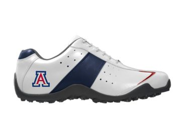 U of A golf shoes.