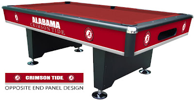 University of Alabama pool table.