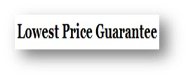 Lowest price guarantee.