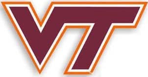 Virginia Tech (VT) billiard logo.