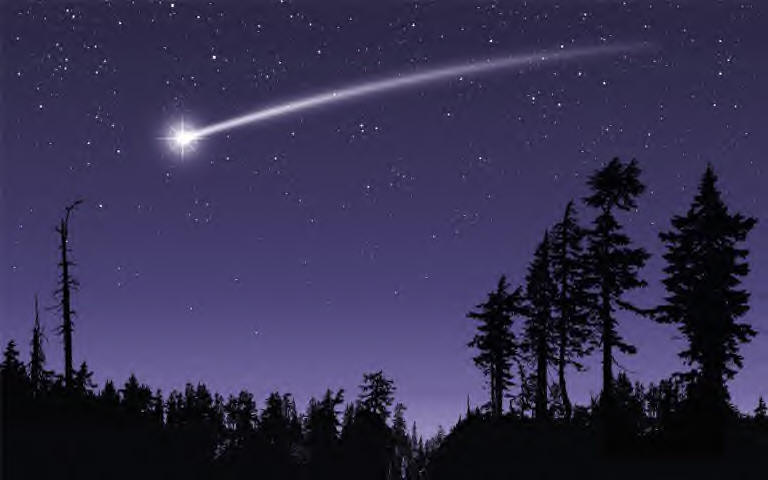 how big is a shooting star