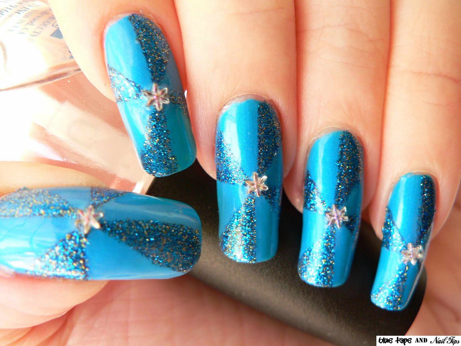 The Charming Colorful glitter nail polish design Images