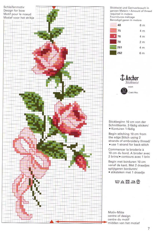 Imagen de flores en punto de cruz Imagenes chidas para  - Imagenes De Flores Para Punto De Cruz