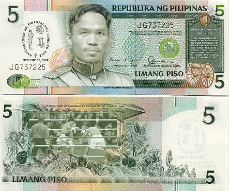 Manny Pacquiao On A Five Peso Bill