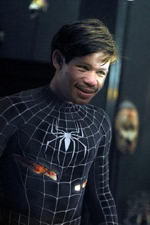 Manny Pacquiao As Black Spider-Man