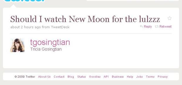 Best New Moon Tweet Ever