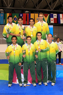 Seleção Brasileira de Karate campeã por Equipe