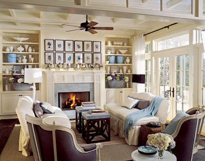 Alkemie country style living rooms for Country style family room ideas