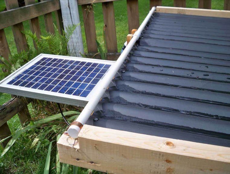 Build it solar blog a unique open flow solar pool heating - Swimming pool heating system design ...