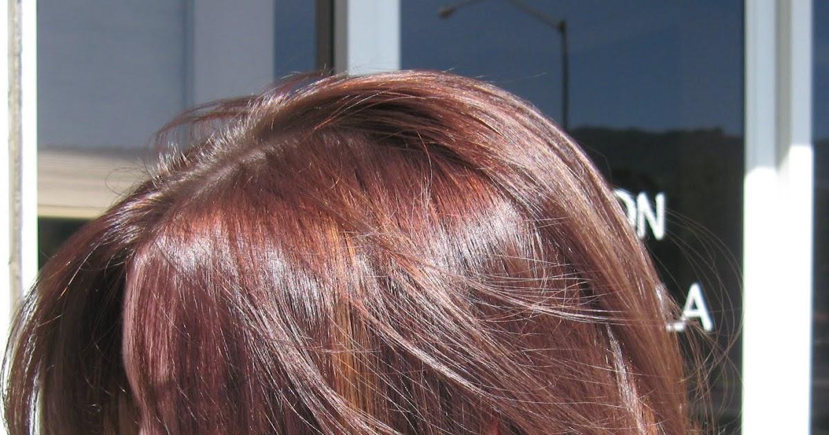 Keely Coleman: Subtle balayage highlights in auburn hair