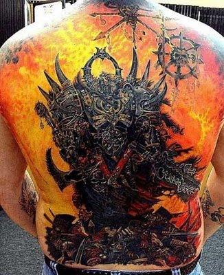 Heavy metal tattoo sleeve