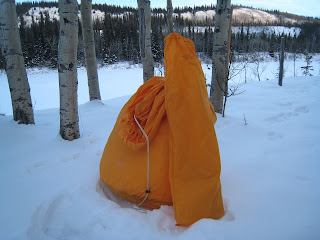 This is the tent i will be staying in. It is an Arctic Oven 10 made by Alaska Tent and Tarp in Fairbanks AK. & Wilderness of Denali 100: December 2007