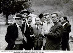 O nosso Director dos anos 50 com os Professores e Prefeitos no Magusto de 1954